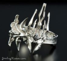 Lich King Ring in Sterling Silver by Sketchy-Stories