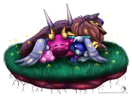 30 Day Kirby Challenge - 30 - Sleeping Angels by Celestia-Knight