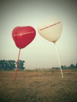red n white ballon by indonesia
