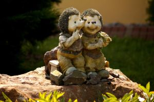 Sitting hedgehogs by LoveForDetails
