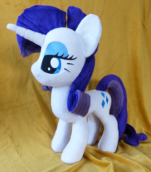 Rarity Plush Auction Reminder by PantherPawCreations