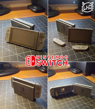 Tiny Nintendo Switch Papercraft 1 inch model by SuperRetroBro