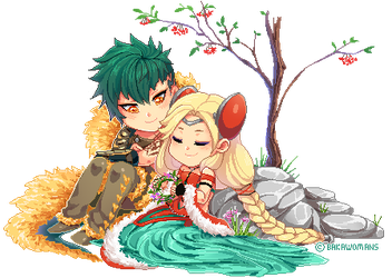 : [ A tender moment ] : Kamigami OC Chibi : by bakawomans