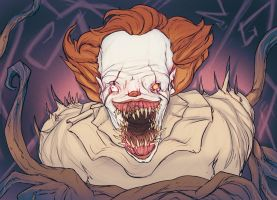 Pennywise sketch. by Bloodsicked