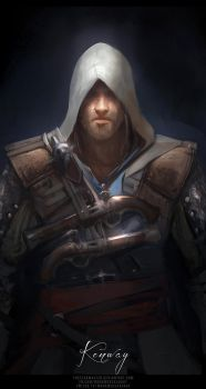 daily sketch : Captain Edward Kenway by TheFearMaster