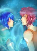 Male!Kyogre and Groudon by Hikiko-chan