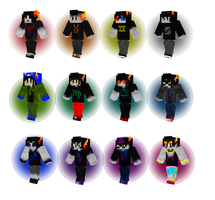 Homestuck Post-Scratch Trolls Minecraft Skins by landdwwellers
