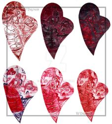 Collagraph: Queen of Hearts by gowa