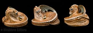 Mother coiled dragon in Sand color by Reptangle