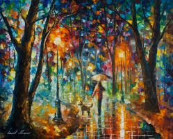 Cold Rain by Leonid Afremov by Leonidafremov