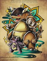 Mega Kangaskhan Tattoo Commission
