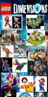 Characters I want to be in Lego Dimensions by EthanTavitas