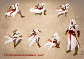 Assassins Sketches II - Altair by DragonsTrace