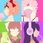 Minimalist Doki Doki Literature Club by aevolution0