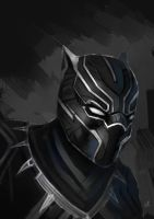 T'Challa fast paint by LazyRemnant