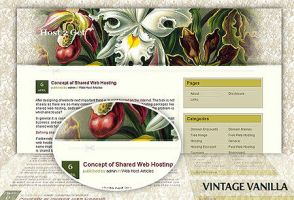 Vintage Vanilla wordpress them by Loreleike