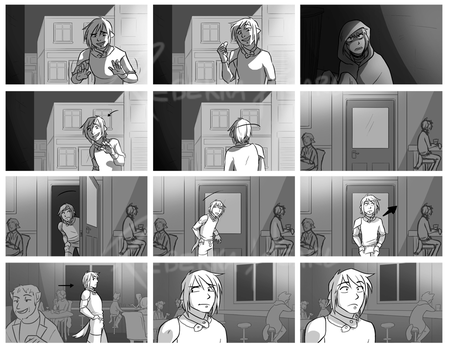 RAID: Law's Intro storyboard - page one by ParaParano