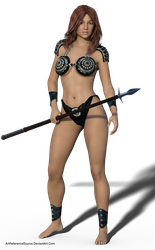 Free Stock PNG:  Beautiful Young Warrior by ArtReferenceSource