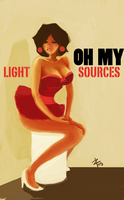 Light source confusion pin-up by tousti