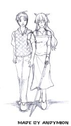 Hisao and Lilly - Sketch by Seekiller