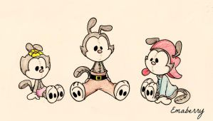 Plush Animaniacs by Emaberry