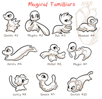 Magical Familiars by griffsnuff