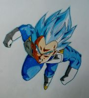 Dragon ball Super : Vegeta SSJ blue by metaln23