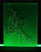 Queen Chrysalis Acrylic LED Picture by steeph-k