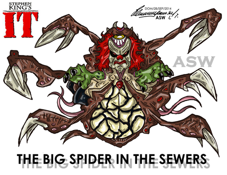 Pennywise Big Spider Final Form Stephen King`s IT by AlexGangster20Comic
