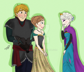 Kristoff meets the Queen of Ice and Snow by xxiiCoko