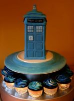 Doctor Who Cake by OniVengeance