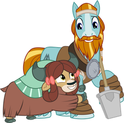 MLP Vector - Rockhoof and Yona by jhayarr23
