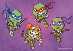 The Wee Turtles by TheSteveYurko