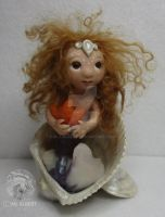 OOAK Mermaid Sculpted Art Doll by M-J-Albert