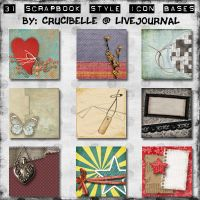 Assorted 100 X 100 Icon Bases by crucibelle