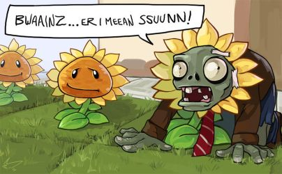 Plants vs Zombies - Hipster Zombie by ArtofCelle