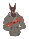 Doberman hunk for sale by lacedinwhiskey
