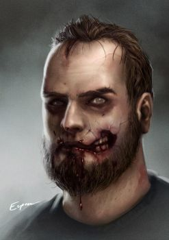 Selfportrait, Zombie edition by EspenG