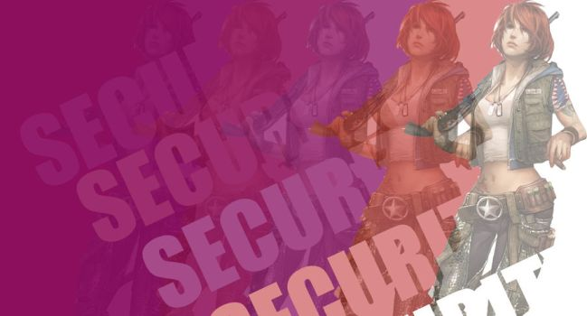 APB Security Girl Purple/Red Background by 746art