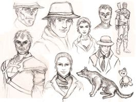 fallout sketches by Milulya