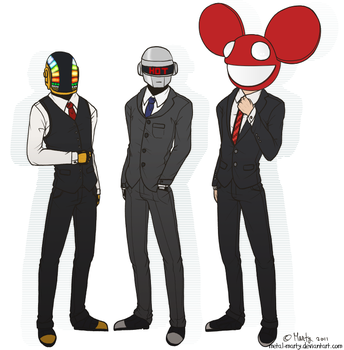 Handsome DJs Only by metal-marty