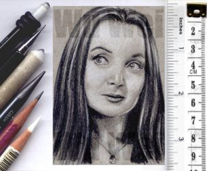 Morticia Addams sketchcard by whu-wei