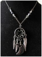 Black Moon Dream - necklace by SaQe
