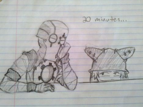 Math Class doodles - 20 minutes by Ryralane