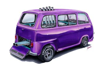 Subaru Sambar 360 Little Purple Wagon by vsdesign69