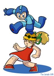 Mega Man and Roll by captainsponge
