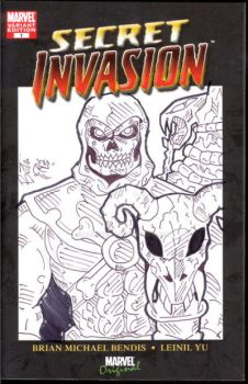 skeletor on a sketch secret invasion comic cover by boltz316