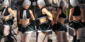 Christie black top skirt by funnybunny666