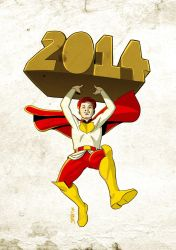Happy 2014 from Lester Lost! by mrkayak