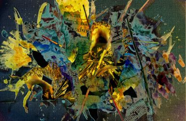 Splattered Collage by Stratified